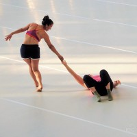 A modern dance workshop