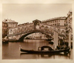 The Rialto bridge, photographed between 1857-1864