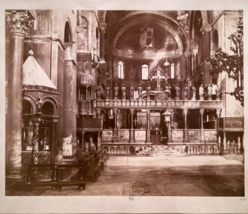 Interior photograph of Saint Mark's Basilica from 1864 (printed in 1893)