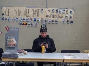 Manning the Hashtagprinter