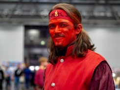 A very handsome man in red