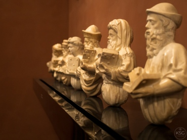 Seven marble busts of prophets, Circle of P. and J. dalle Masegne, Venice, ca. 1400