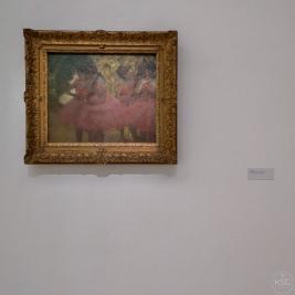 Edgar Degas: Dancers in red skirt, 1884
