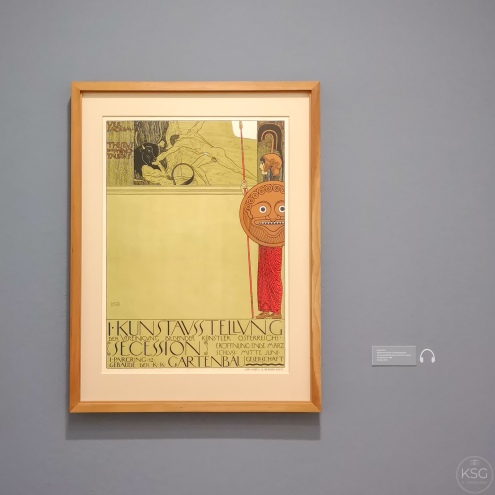 Poster Design for the Secession by Klimt, 1898