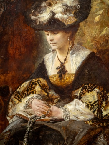 Portrait of Countess Palffy (Praying woman), Hans Makart, 1880