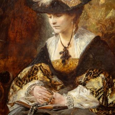 Portrait of Countess Palffy (Praying woman), Hans Makart, 1880