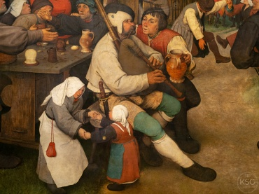 Detail from Peasant Dance (1568)