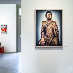 A 2009 portrait of M.al Gaddafi by Platon