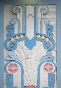 Congress Hotel facade relief