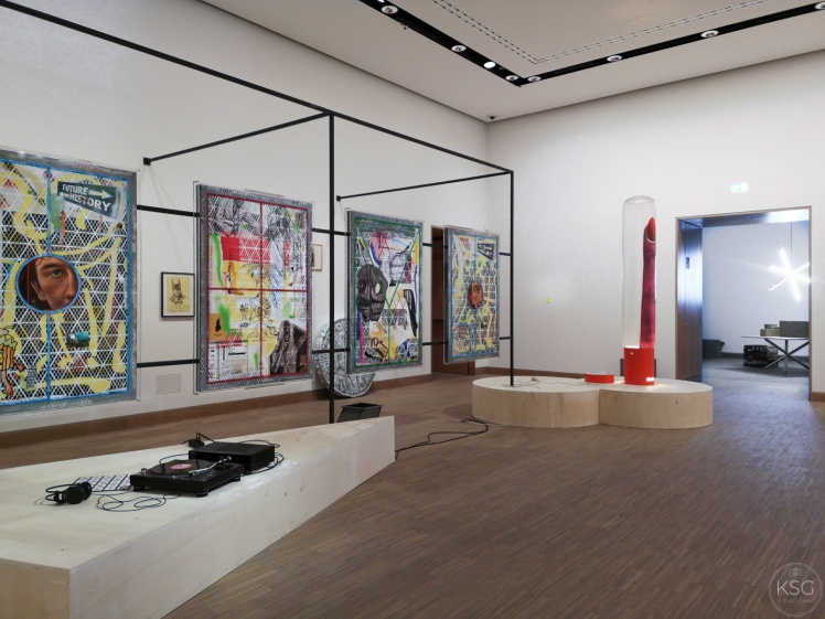 photo of a contemporary art exhibition