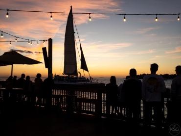 On sunset pier